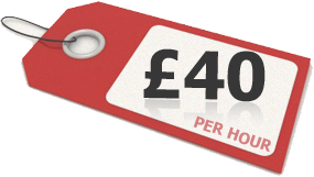 Prices FROM £40 PER HOUR